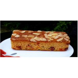 Cherry and almond slice