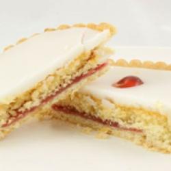 Iced bakewell tart