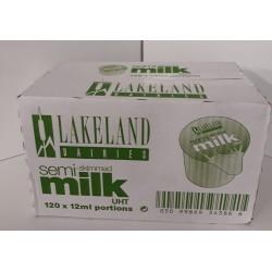 UHT skimmed milk cartons