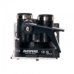 "Everpure QL3B filter head with shut-off - 3/8"" BSP female"